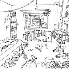 dirty room clipart black and white