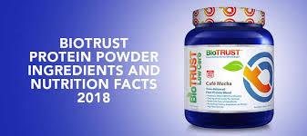biotrust protein powder and nutrition