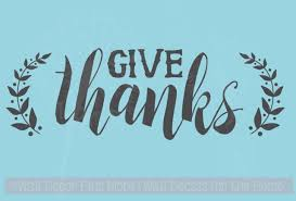 Give Thanks With Leaves Fall Autumn Decor Wall Decal Sticker