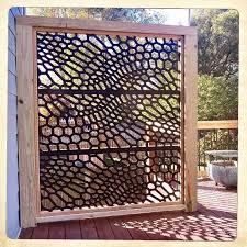 Meghan Metal Privacy Screen Decorative Panel Garden Fence Etsy Fence Decor Decorative Panels Shadow Box Fence