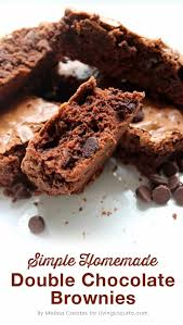 double chocolate chip brownies recipe