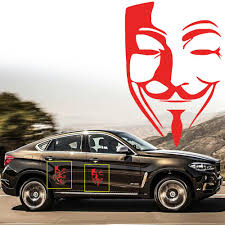 Eidran Universal Car V For Vendetta Anonymous Mask Sexy Man Guy Fawkes Mask Decal Vinyl Decal Sticker Car Stickers Aliexpress