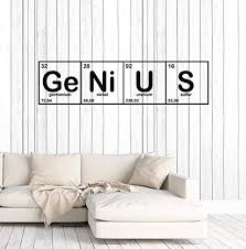 Amazon Com Art Of Decals Amazing Home Decor Vinyl Wall Decal Genius Chemical Lab Science Chemistry School Stickers Mural Large Decor 156made In The Usa Removable Home Kitchen