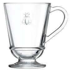 tea bee mug drinking glass 230ml