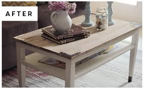 diy planked farm style coffee table