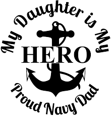 Opa S Vinyl Works Hero Daughter Proud Navy Dad Anchor Usa Military Decal Sticker Window