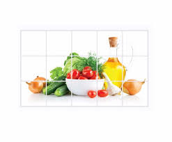 Oilproof Removable Diy Fruit Vegetables Wall Sticker For Kitchen Wall Stickers Art