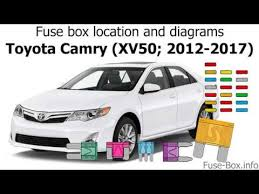fuse box location and diagrams toyota