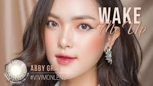 KÍNH ÁP TRÒNG HÀN QUỐC - VIVIMON LENS - ABBY GRAY - YouTube