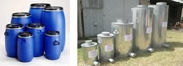 Mini-silos;  Airtight  Metallic and Plastic Containers