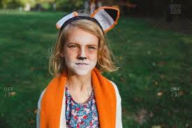 little wearing fox makeup and