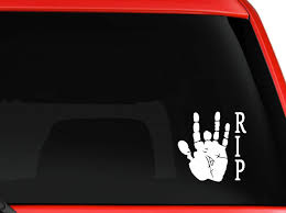 Amazon Com Jerry Garcia Hand Print R I P Grateful Dead Musical Car Truck Suv Window Laptop Wall Macbook Decal Sticker Approx 6 Inches White Kitchen Dining