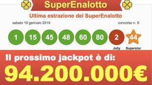 Prossima estrazione SuperEnalotto, Lotto e 10eLotto oggi 22 ...