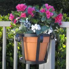 8 Inch Flowerpot Holders For Fences Railings Hooks Lattice