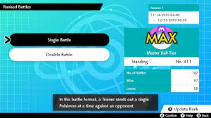 Pokemon Sword & Shield: Master Ball Tier Players in ranked battles ...