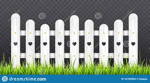 White Wooden Fence With Green Grass Vector Illustration Isolated On Transparent Background Stock Vector Illustration Of Barrier Outdoor 181963854