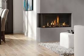 double sided fireplaces modern design