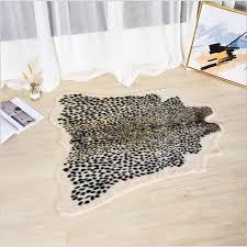 fur carpet leopard print rugs irregular