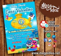 Invitacion De Baby Shark Para Imprimir Mega Idea