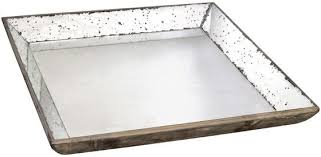 an antique mirrored tray that s large