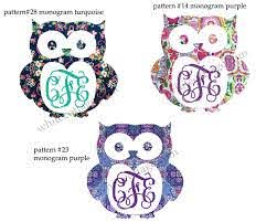 Owl Monogram Owl Decal Lilly Inspired Iphone Decal Yeti Decal Tumbler Decal Car Window Decal Our White Cottage