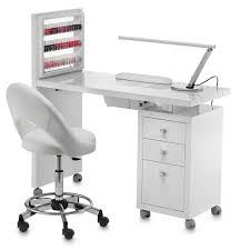 manicure table square display vented