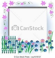 Garden Fence Frame Garden Fence Flowers And Vines Border Cutout Scrapbook Frame