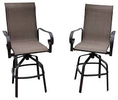 glamorous outdoor sling bar stools