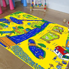 Shop Allstar Kids Baby Room Area Rug Zoo Animals Zebra Monkey Lions Bright Colorfun Vibrant Colors 4 11 X 6 11 Overstock 11844357