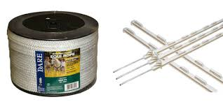 Amazon Com Dare Electric Horse Fence Kit 12 White 48 Self Insulating Poly Posts 600 Feet Equi Rope 6 Mm Made In The Usa Industrial Scientific