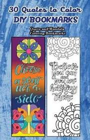 quotes to color diy bookmarks quote and mandala coloring