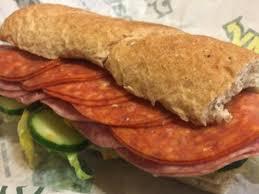 y italian sandwich nutrition facts