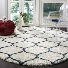 7 ft blue round rugs com