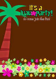 Invitaciones Para Fiesta Hawaiana De Ninas Para Imprimir Gratis