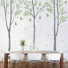 3 White Birch Tree Wall Decals Removable Wall Decal Vinyl Etsy
