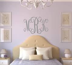 Amazon Com Lucylews Monogram Wall Decal Personalized Teen Dorm Room Decor 3 Letter Monogram Handmade