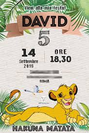 Digital Invitation The Lion Kin Birthday Party Printable