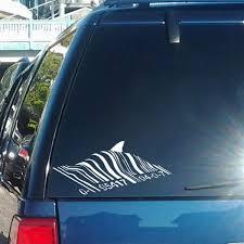 Yjzt 16 8cm 7 5cm Banksy Barcode Shark Personality Vinyl Car Window Sticker Decals Black Silver C11 0320 Shop The Nation