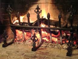 decorative vertical fireplace grates