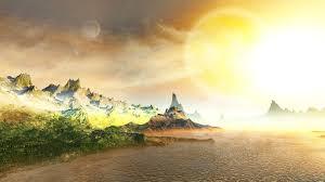 ساحل الصخور شمس بحر عالية الدقة سطح المكتب خلفيات خلفية