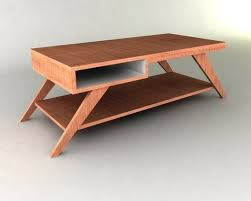 retro modern eames style coffee table