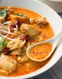 laksa noodle soup - spicy malaysian ...