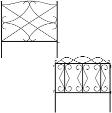 Amazon Com Amagabeli Galvanized Garden Fence Bundle 24inx10ft 24 High X 24 Wide 5 Panels In Total Outdoor Rustproof Metal Landscape Wire Fencing Folding Animal Dogs Barrier Border Garden Outdoor