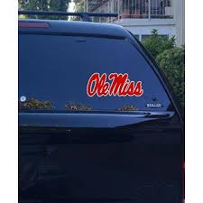 Durasol 08 10 01 Ole Miss Word Mark Rebels Logo Sec Window Vinyl Sticker Decal