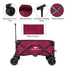 goplus collapsible folding wagon cart