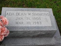 Ada Dean Wood Simmons (1905-1983) - Find A Grave Memorial