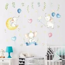 Lovely Stars Moon Elephant Wall Stickers Balloon Decals Kids Baby Room Art Decor Ebay