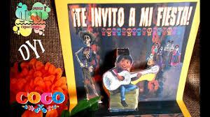 Como Hacer Una Invitacion De Coco Invitation Coco Movie Free
