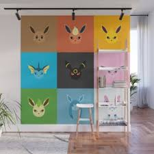 Eevee Wall Murals For Any Decor Style Society6