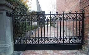 Wrought Iron Fences Gates Natural Stone Fence Designs By E Phence
